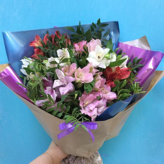 Букет из альстромерий💐: букеты цветов на заказ Flowwow