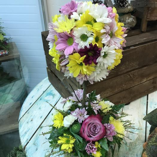 Композиция из цветов дерево счастья: букеты цветов на заказ Flowwow