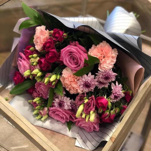 """Большой букет Цветов """"розовая нежность"""""""