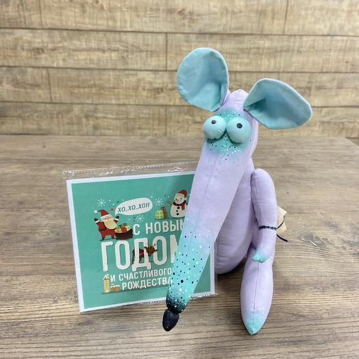 Мистер Крыс с шоколадной открыткой: букеты цветов на заказ Flowwow