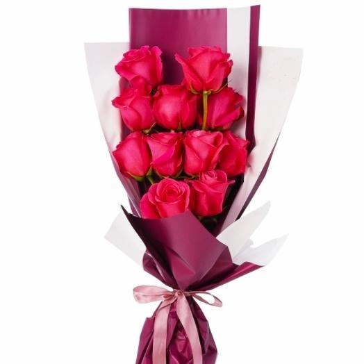 11 Розовый роз: букеты цветов на заказ Flowwow