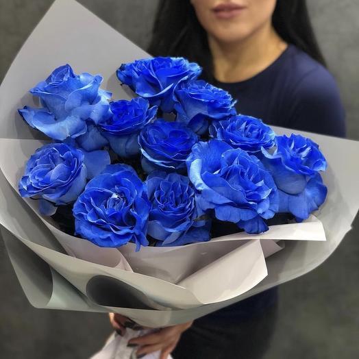 Букет из 11 эквадорских синих роз