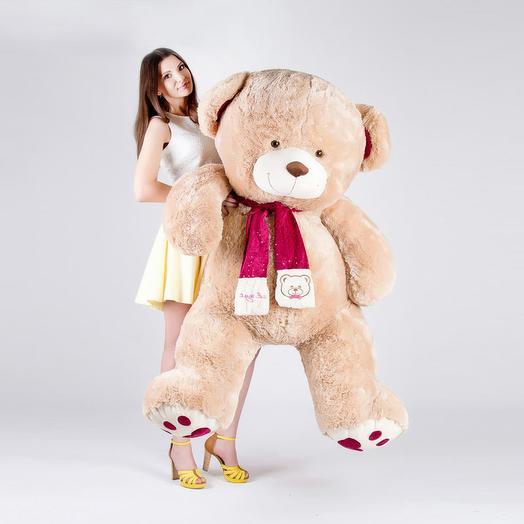 Большой Медведь Кельвин 180 см (кофейный)