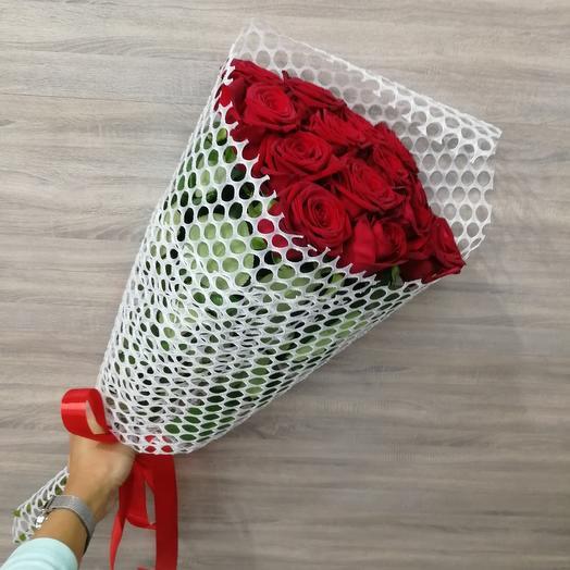 ✅ Букет красных роз в упаковке