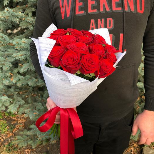 Rosalina - 15 красных роз