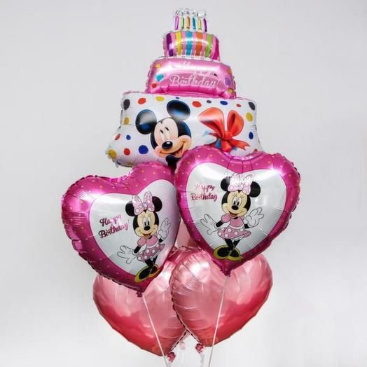 Набор шаров Мини Маус для любимой девочки