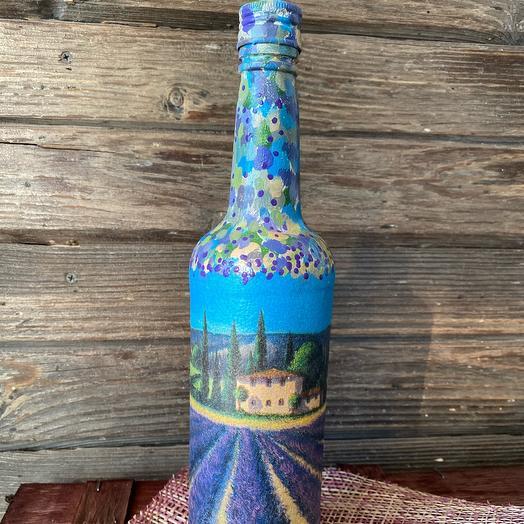 Декоративная бутылка «Лавандовое поле»