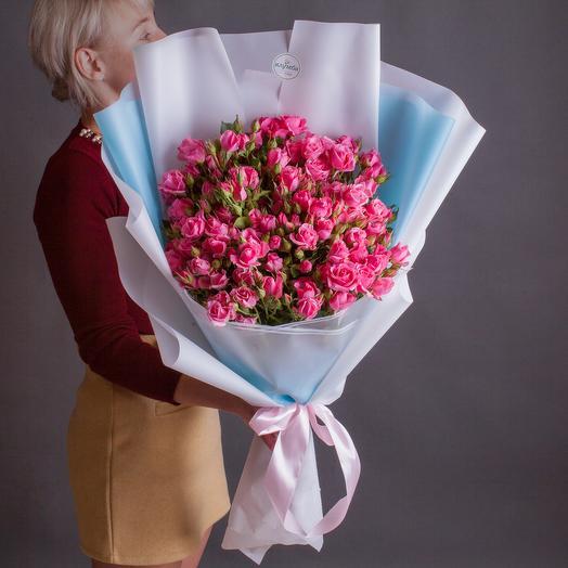 """Большой букет из кустовой розы """"Роуз"""""""
