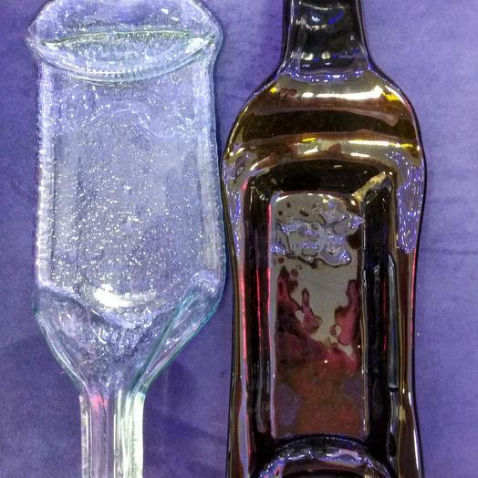 Бутылка из печи, стекло