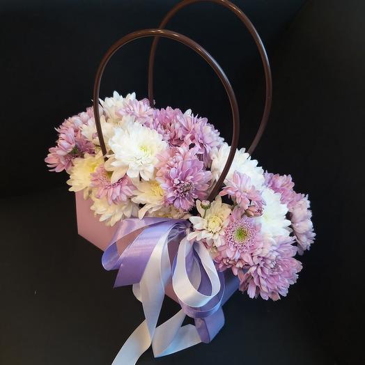 Хризантема в сумочке