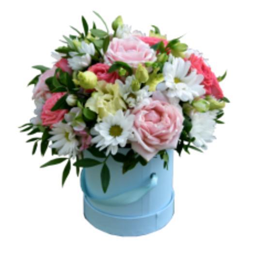 "Коробка с цветами  "" Весенний комплимент"""