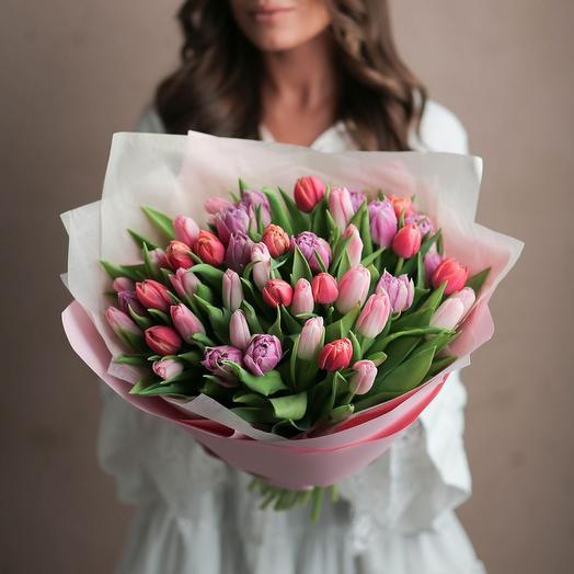 Нежный микс из тюльпанов 2