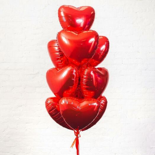 Букет из 10 сердец