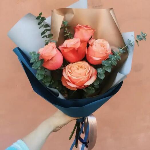 Букет сортовая роза