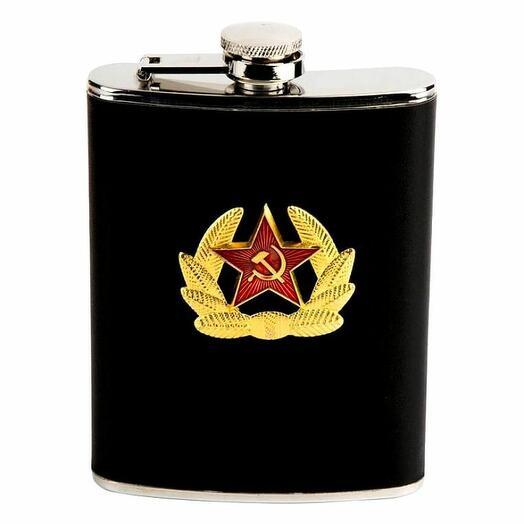"""Фляжка подарочная """"Военная"""" 8oz"""