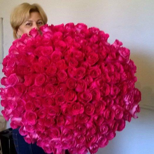 Букет  151роза: букеты цветов на заказ Flowwow