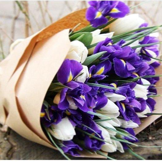 Букет Ирис: букеты цветов на заказ Flowwow
