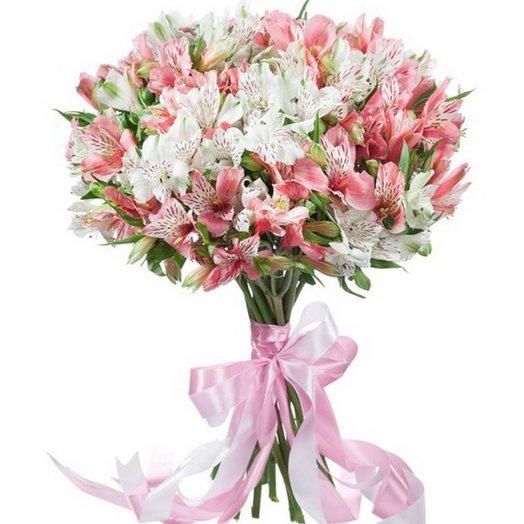 Классический букет из альстромерии: букеты цветов на заказ Flowwow