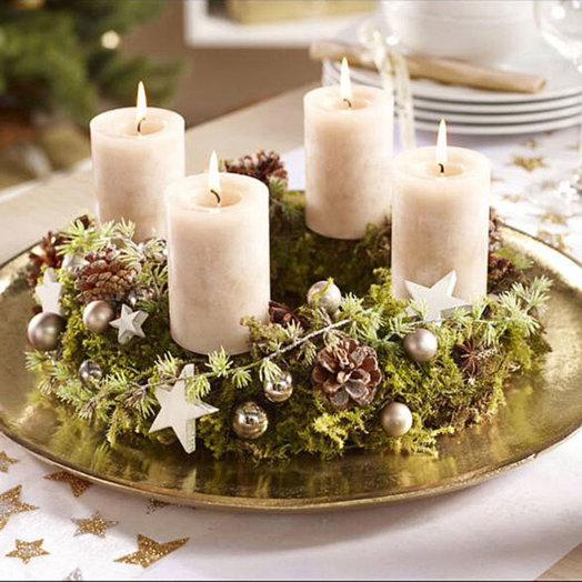 Рождественская композиция «Подарок ангела»: букеты цветов на заказ Flowwow