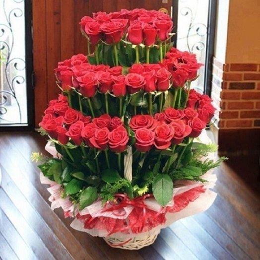 Фонтан роз: букеты цветов на заказ Flowwow