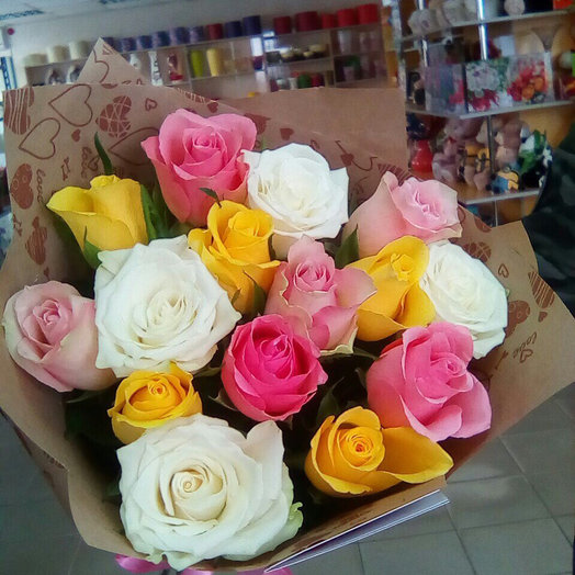 Букет «15 роз по АКЦИИ»