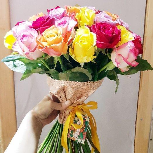 51 Роза микс кения 50см: букеты цветов на заказ Flowwow
