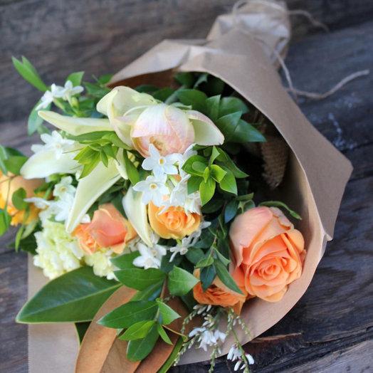 Весенний персиковый (Букет 12): букеты цветов на заказ Flowwow