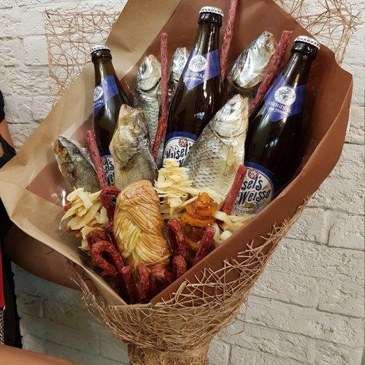 Мужской съедобный букет: букеты цветов на заказ Flowwow