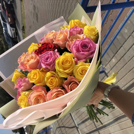 Монобукет 31 роза: букеты цветов на заказ Flowwow