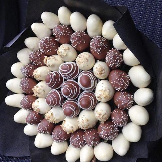 Клубничный букет «много шоколада»: букеты цветов на заказ Flowwow