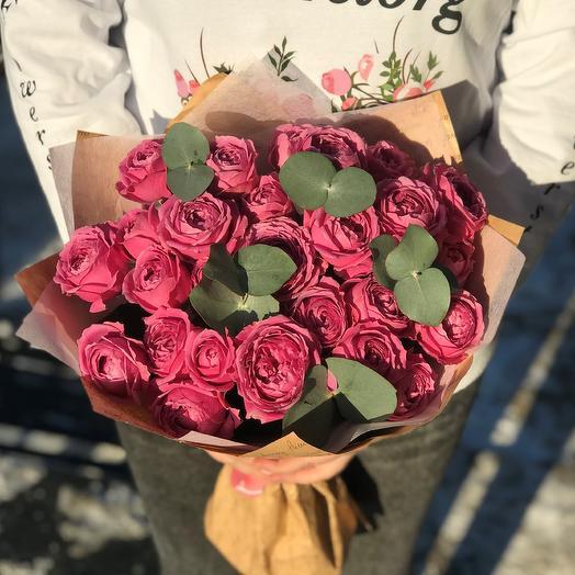 Букет из пиновидных роз 9 веточек. 40 см N261: букеты цветов на заказ Flowwow