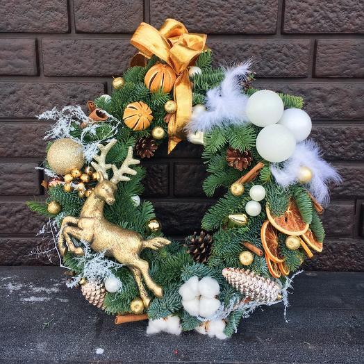 Рождественский венок Сказка: букеты цветов на заказ Flowwow