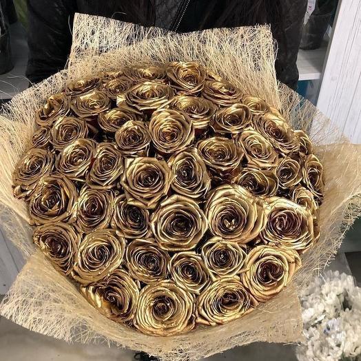 Безумное золото: букеты цветов на заказ Flowwow