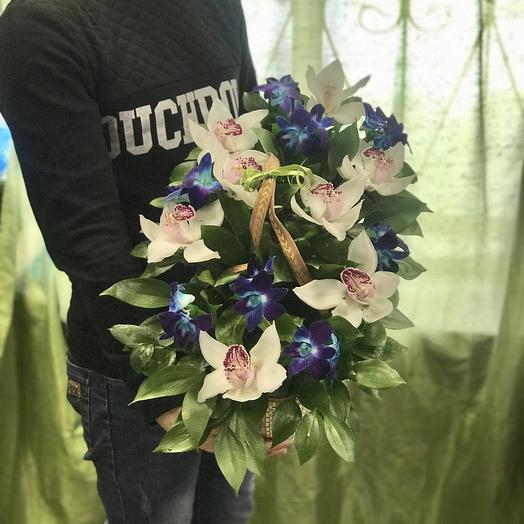 Орхидеи в сумочке: букеты цветов на заказ Flowwow