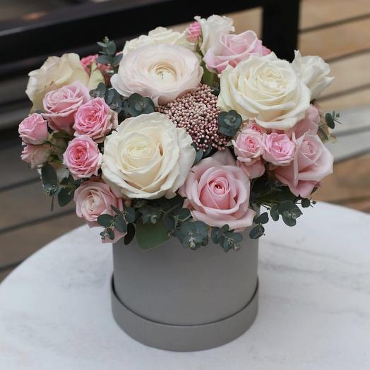 Романтичная коробочка: букеты цветов на заказ Flowwow