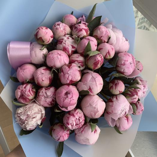 Пионовая буря: букеты цветов на заказ Flowwow