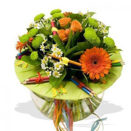 Букет на 1 Сентября 20: букеты цветов на заказ Flowwow