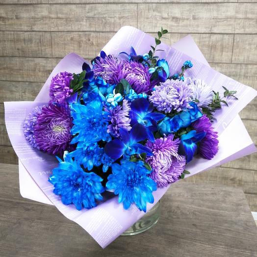 Неоновый букет: букеты цветов на заказ Flowwow
