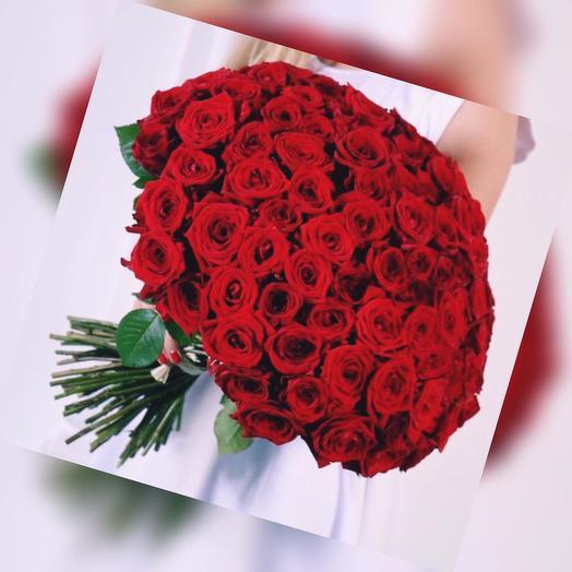 Российские розы 101 шт: букеты цветов на заказ Flowwow