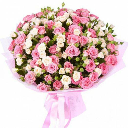 Кустовые розы 51 шт: букеты цветов на заказ Flowwow