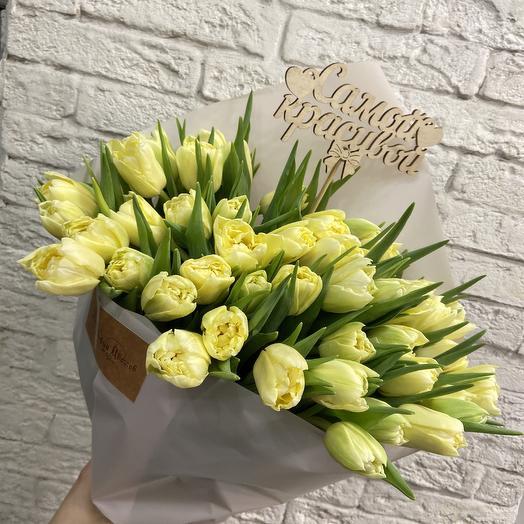 Солнечные тюльпаны: букеты цветов на заказ Flowwow