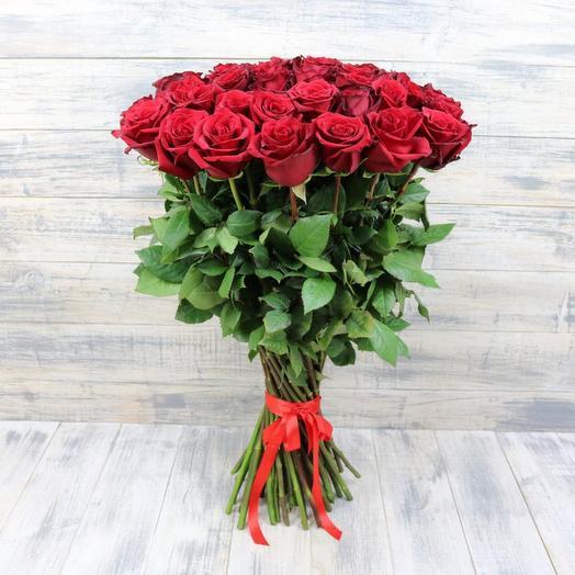 Букет высоких 80-90 см роз