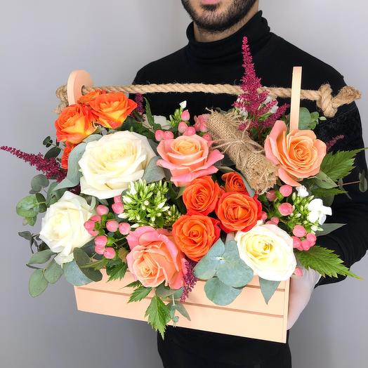 «Парижанка»: букеты цветов на заказ Flowwow