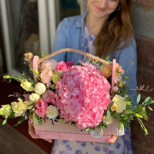 Ящик с Цветами  « Розовый восторг»