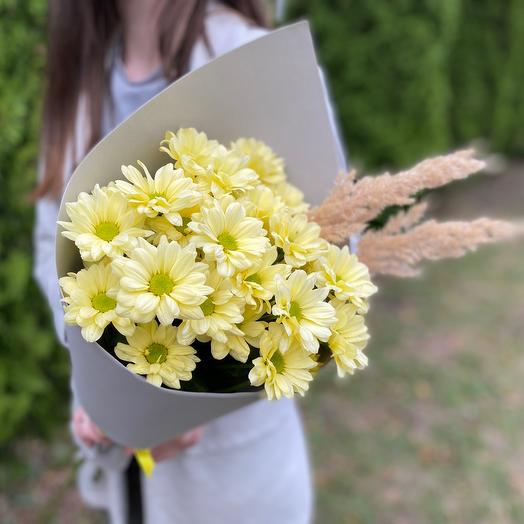 Bouquet of bright chrysanthemums