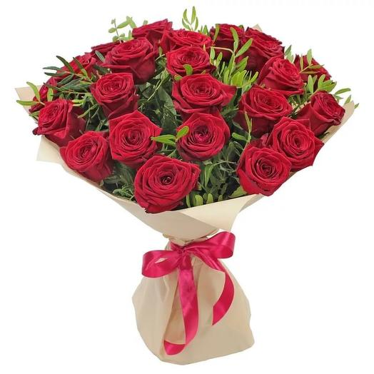 25 роз с фисташкой