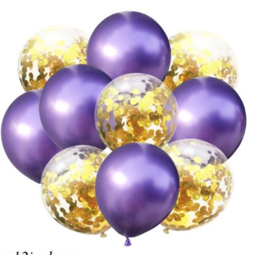 Цветные латексные шары воздушные шары с конфетти 30