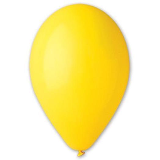 """Шар с гелием 12""""/30 см  желтый пастель"""