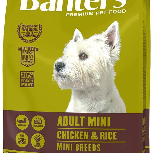 Banters Adult Mini курица с рисом сухой корм для собак 3 кг