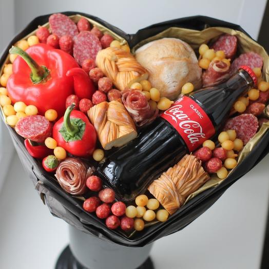 Букет Сердце для мужчины